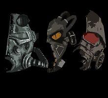 Fallout - Power Armor Helmets by HeySteve