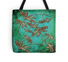 Dragonfly Turquoise Swirl Tote Bag