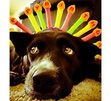 Um, it's not my birthday... Photographic Print