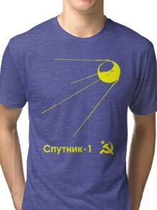 Sputnik-1 Satellite 1957 T-Shirt (dark) Tri-blend T-Shirt