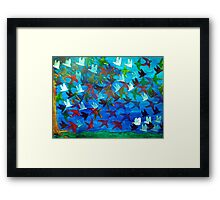 One Hundred Birds Framed Print