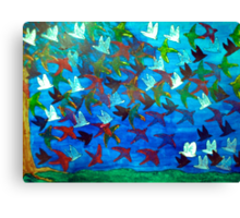 One Hundred Birds Canvas Print