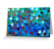 One Hundred Birds Greeting Card