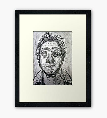 60 second self portrait Framed Print