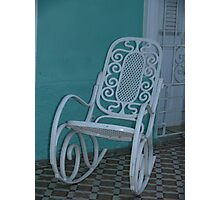 A chair, Cienfuegos, Cuba Photographic Print