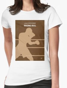 No174 My Raging Bull minimal movie poster Womens Fitted T-Shirt