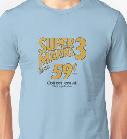 Super Mario Bros 3 - Collect Them All! Unisex T-Shirt