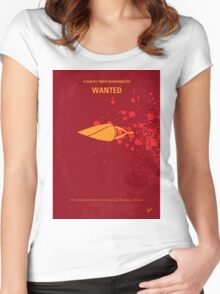 No176 My Wanted minimal movie poster Women's Fitted Scoop T-Shirt