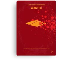 No176 My Wanted minimal movie poster Canvas Print