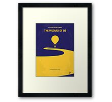 No177 My Wizard of Oz minimal movie poster Framed Print