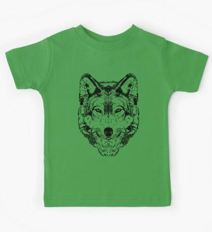 Wolf Black Kids Tee