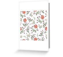 flowers watercolor  Greeting Card