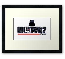 What Would Darth Vader Do? Framed Print