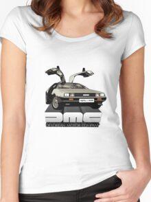 DeLorean Tee Shirt Women's Fitted Scoop T-Shirt