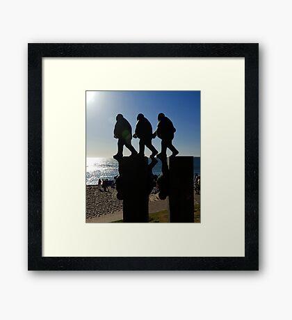 Marching Men Framed Print