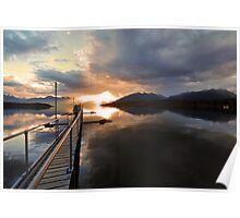 Lake Te Anau. South Island, New Zealand. Poster