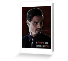 Jay Ryan as Vincent Keller Greeting Card