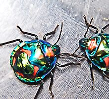 Rainbow Bugs by mandyemblow