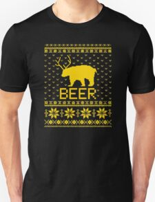 Ugly Sweater Party Beer Bear Funny  T-Shirt