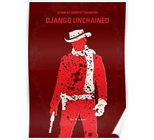 No184 My Django Unchained minimal movie poster Poster