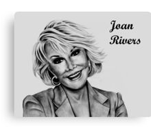 Joan Rivers Canvas Print