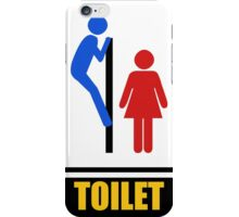 Funny Toilet Signs Iphone Case iPhone Case/Skin