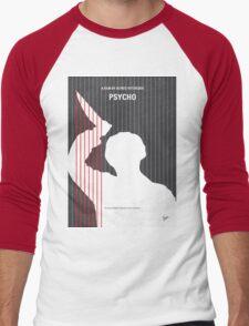 No185 My Psycho minimal movie poster Men's Baseball ¾ T-Shirt