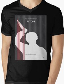 No185 My Psycho minimal movie poster Mens V-Neck T-Shirt