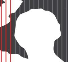 No185 My Psycho minimal movie poster Sticker