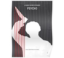 No185 My Psycho minimal movie poster Poster