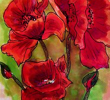 Poppy Glory by Angela Gannicott