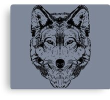 Wolf Black 2 Canvas Print