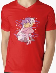 Bee and WolfLion Mens V-Neck T-Shirt