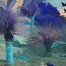 EVENING IN THE BLUE DESERT, PALM SPRINGS CA by Sherri Palm Springs  Nicholas