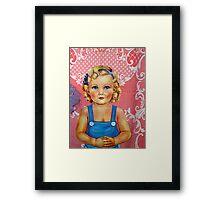 when I was a little blue eyed girl Framed Print