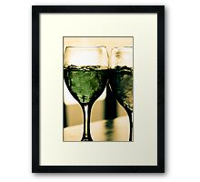 Cocktail Green Framed Print