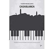 No192 My Casablanca minimal movie poster  Photographic Print