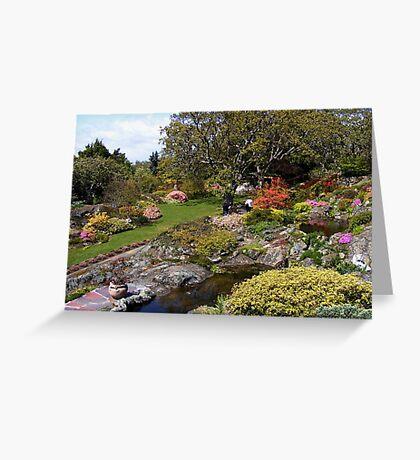 Abkhazi Gardens in Sunshine Greeting Card
