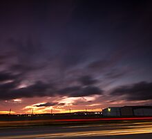 sunset light trails by Matt  Williams
