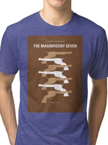 No197 My The Magnificent Seven minimal movie poster  Tri-blend T-Shirt