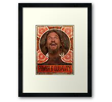 Big Lebowski power to the people Framed Print