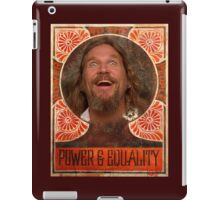 Big Lebowski power to the people iPad Case/Skin