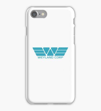 Weyland Corp logo - Alien - Blue iPhone Case/Skin