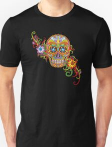 Women's Sugar Skull Purple T-Shirt