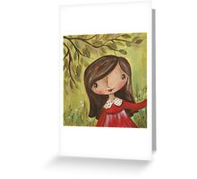 Tabitha in the Garden Greeting Card