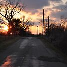 A country drive at sunset by mltrue
