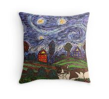 Thinking of Stars Throw Pillow