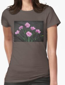 Pinks on Slate Womens Fitted T-Shirt