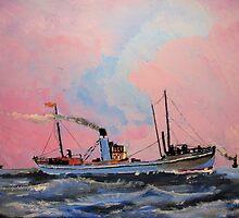 Steam Trawlers circa 1902 by GEORGE SANDERSON