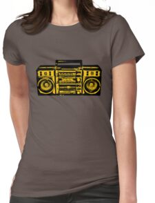 Tape recorder Womens Fitted T-Shirt